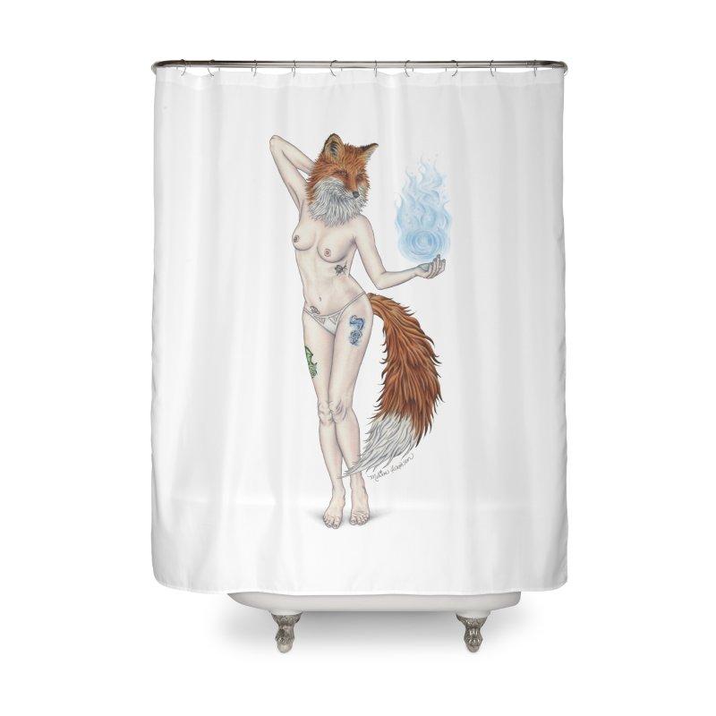 Sparkle Fox Home Shower Curtain by MelJo JoJo's Artist Shop
