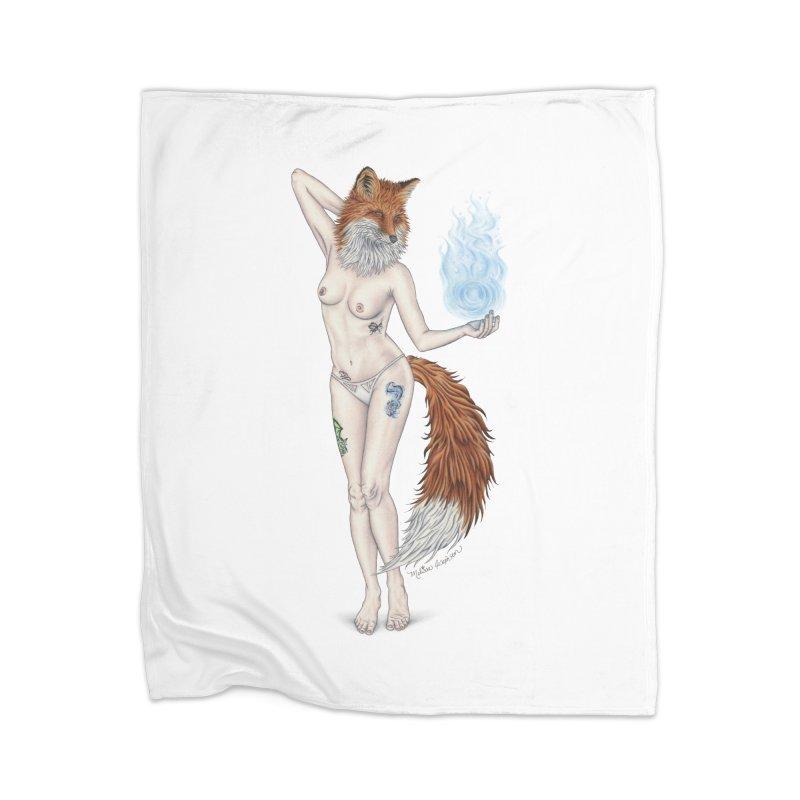 Sparkle Fox Home Blanket by MelJo JoJo's Artist Shop