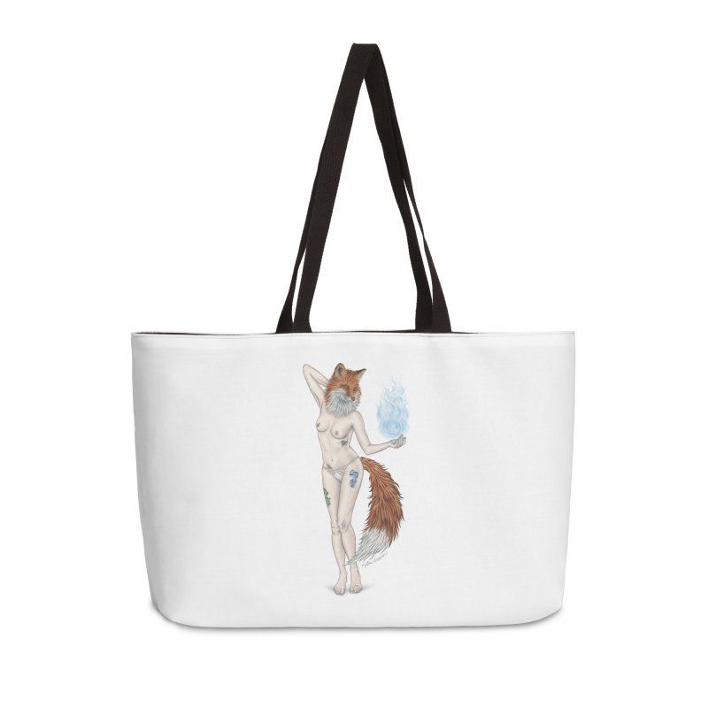 Sparkle Fox Accessories Weekender Bag Bag by MelJo JoJo's Artist Shop