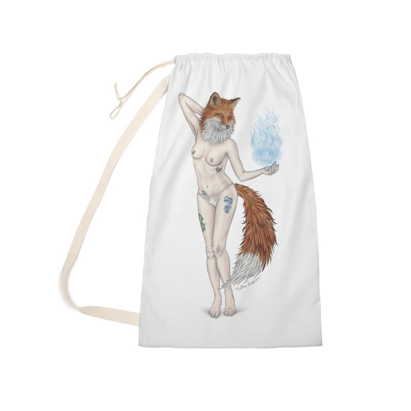 Sparkle Fox Accessories Laundry Bag Bag by MelJo JoJo's Artist Shop