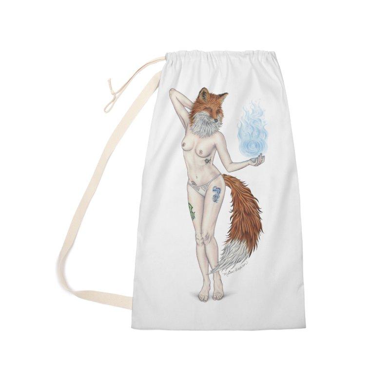 Sparkle Fox Accessories Bag by MelJo JoJo's Artist Shop