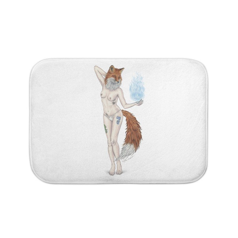 Sparkle Fox Home Bath Mat by MelJo JoJo's Artist Shop
