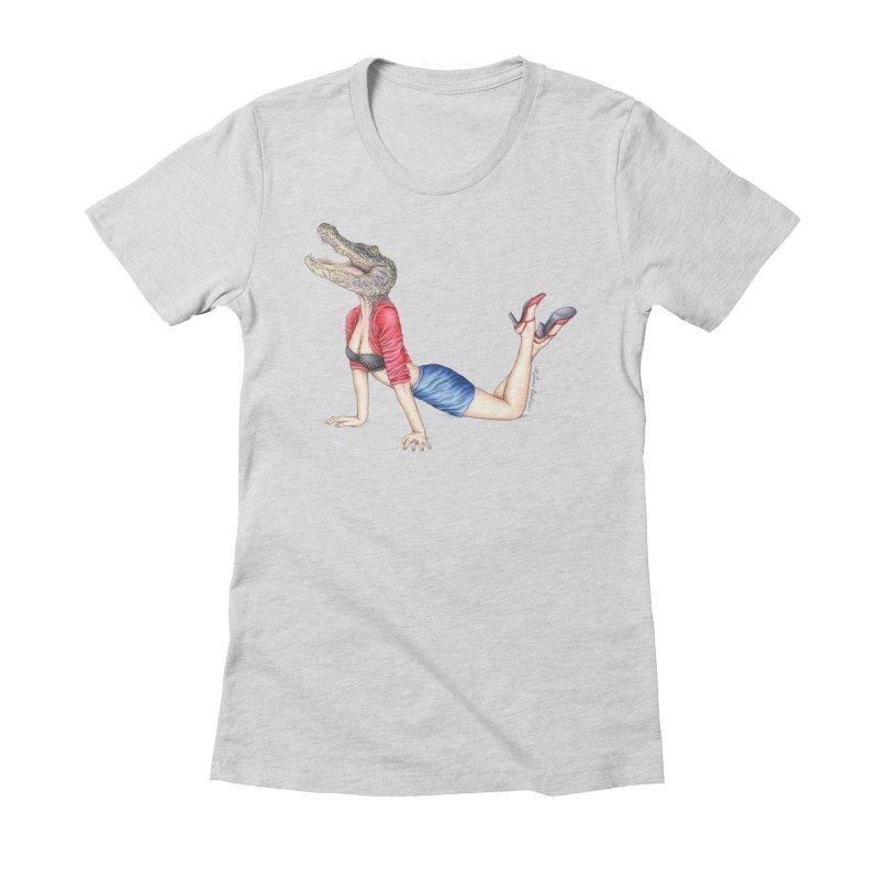 Bayou Betty Women's Fitted T-Shirt by MelJo JoJo's Artist Shop