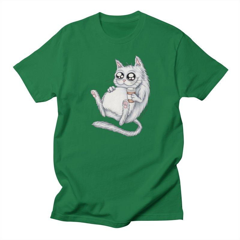 Caffeine Crazy Kitty Men's T-Shirt by MelJo JoJo's Artist Shop