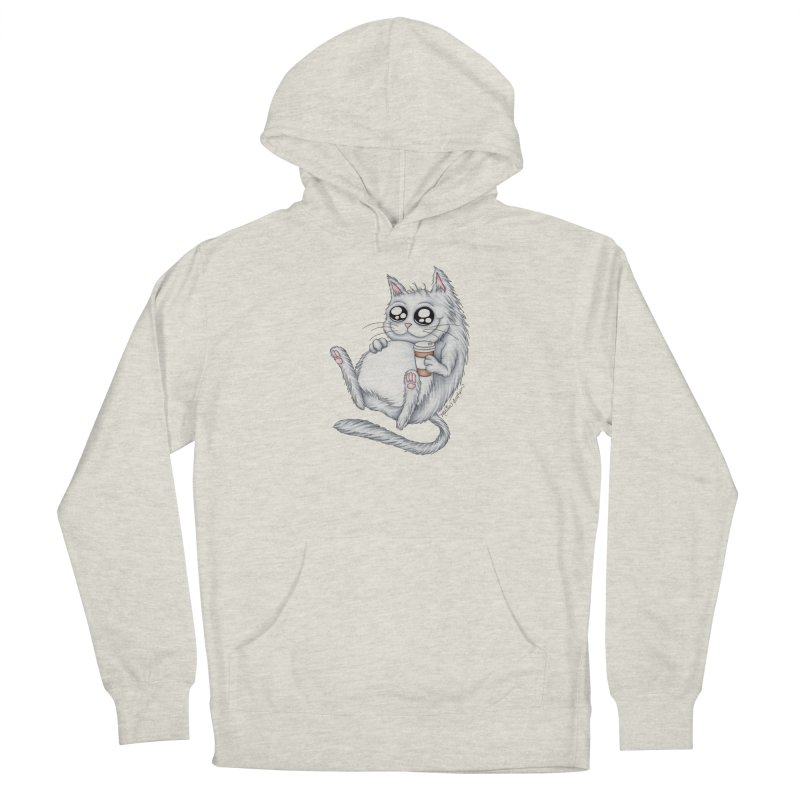 Caffeine Crazy Kitty Women's Pullover Hoody by MelJo JoJo's Artist Shop