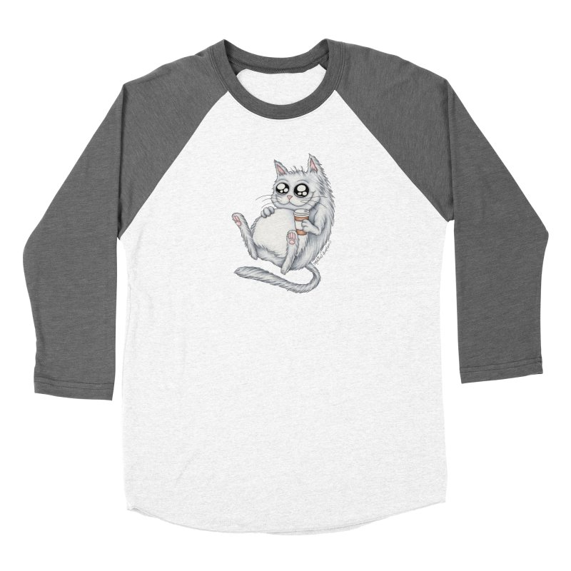 Caffeine Crazy Kitty Women's Longsleeve T-Shirt by MelJo JoJo's Artist Shop