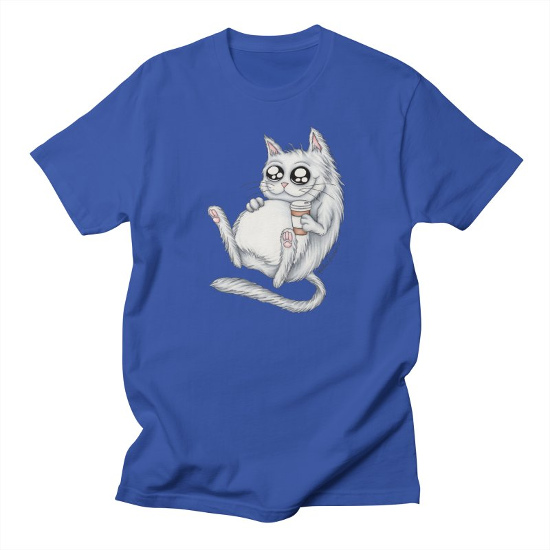 Caffeine Crazy Kitty Men's T-Shirt by MelJo JoJo's Artist Shop