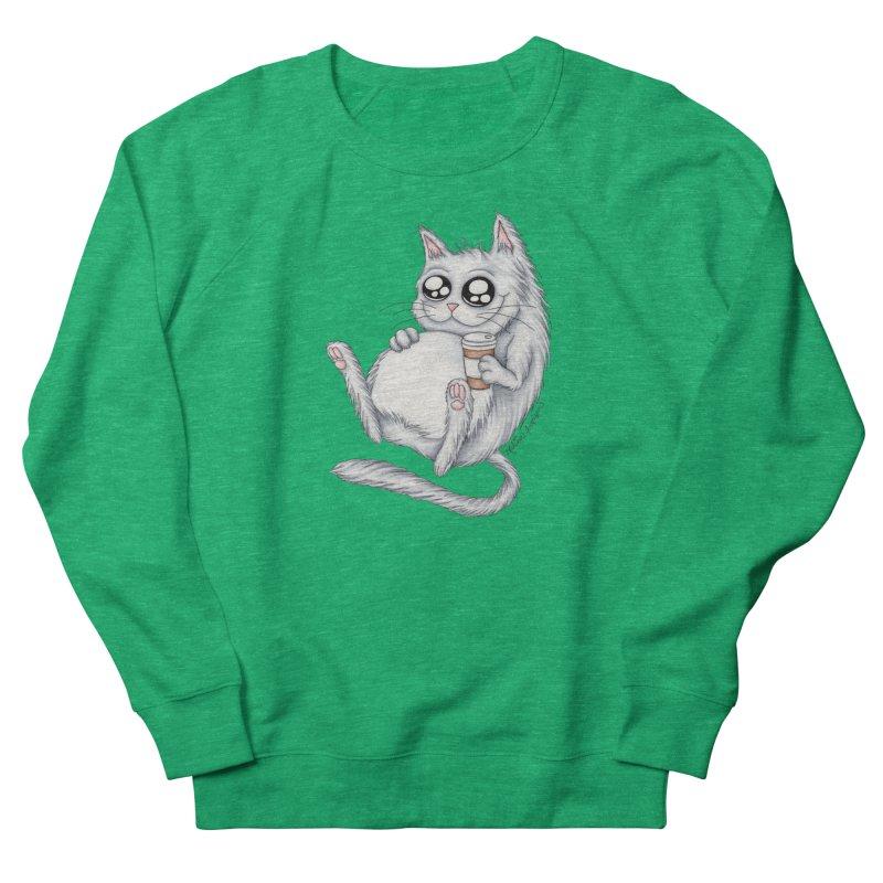 Caffeine Crazy Kitty Women's Sweatshirt by MelJo JoJo's Artist Shop