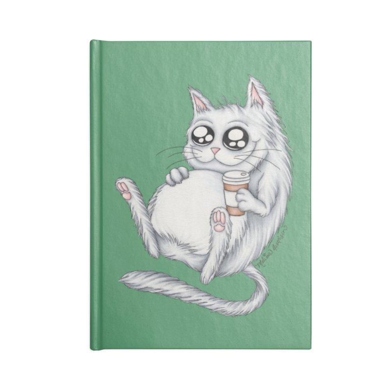 Caffeine Crazy Kitty Accessories Notebook by MelJo JoJo's Artist Shop