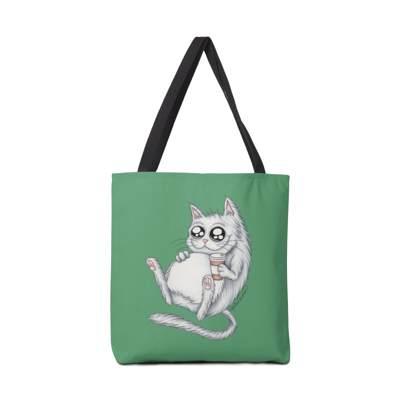 Caffeine Crazy Kitty Accessories Bag by MelJo JoJo's Artist Shop