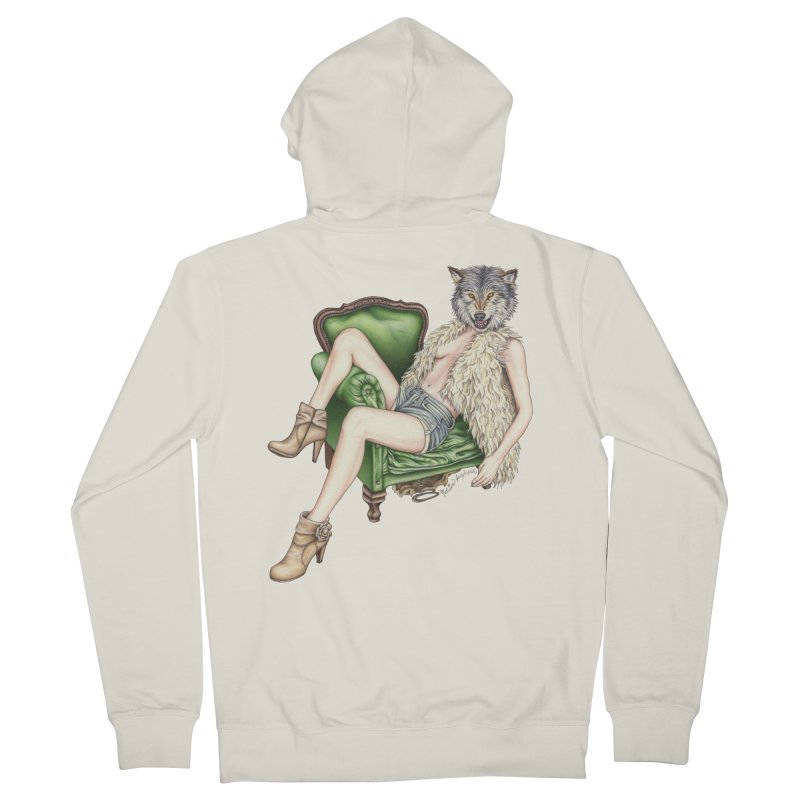 Of Wolf and Woman Men's Zip-Up Hoody by MelJo JoJo's Artist Shop