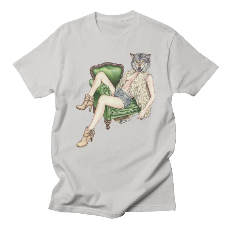 Of Wolf and Woman Men's T-Shirt by MelJo JoJo's Artist Shop