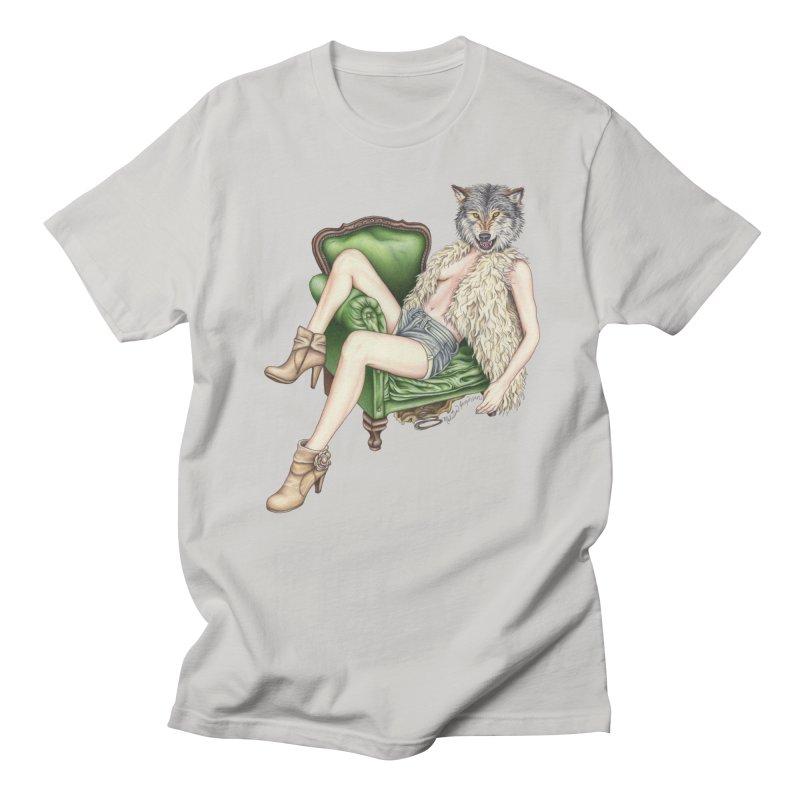 Of Wolf and Woman Men's T-Shirt by MelJo JoJo's Artist Shop