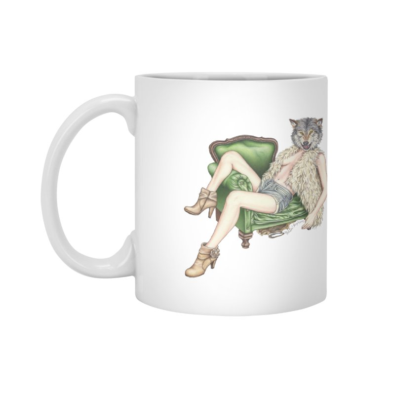 Of Wolf and Woman Accessories Mug by MelJo JoJo's Artist Shop