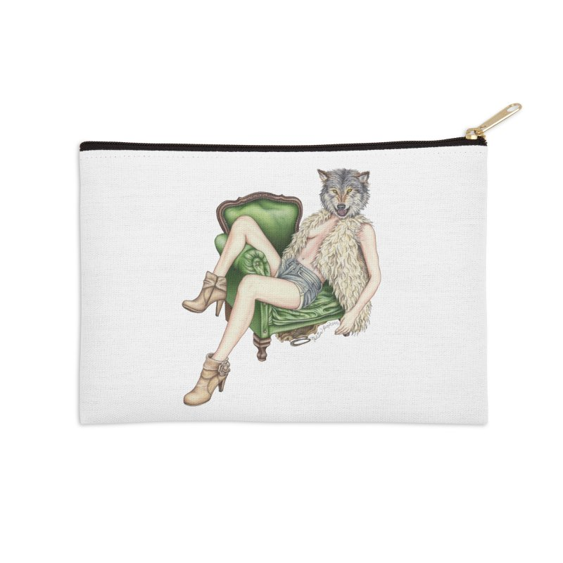 Of Wolf and Woman Accessories Zip Pouch by MelJo JoJo's Artist Shop