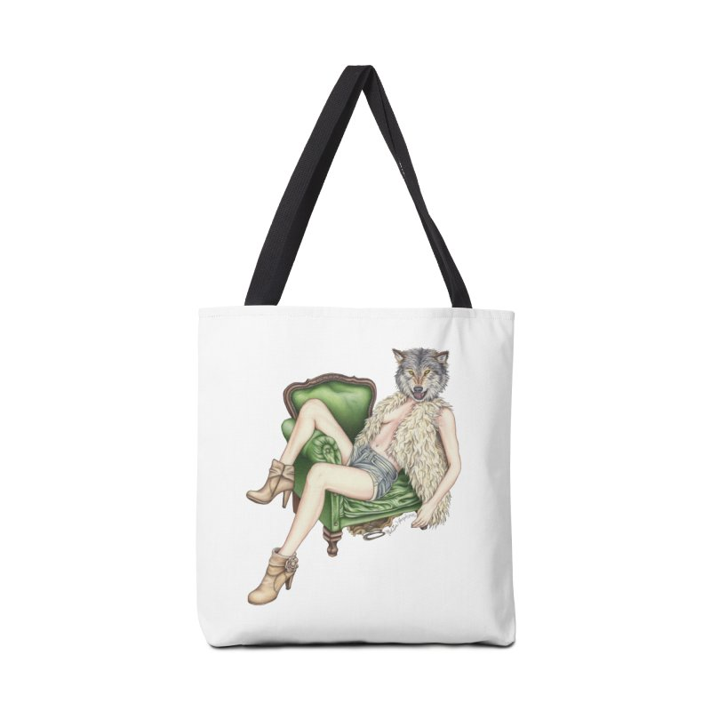 Of Wolf and Woman Accessories Bag by MelJo JoJo's Artist Shop
