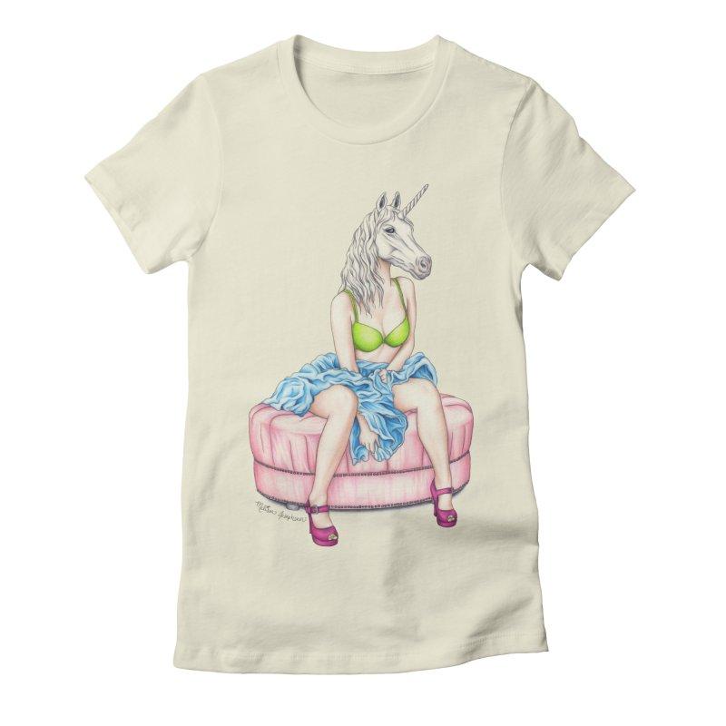 Pretty in Rainbows Women's Fitted T-Shirt by MelJo JoJo's Artist Shop