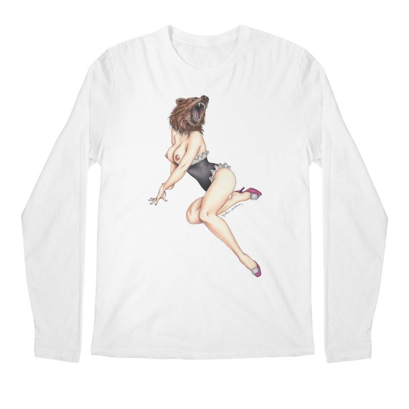 The Bear Naked Lady Men's Regular Longsleeve T-Shirt by MelJo JoJo's Artist Shop