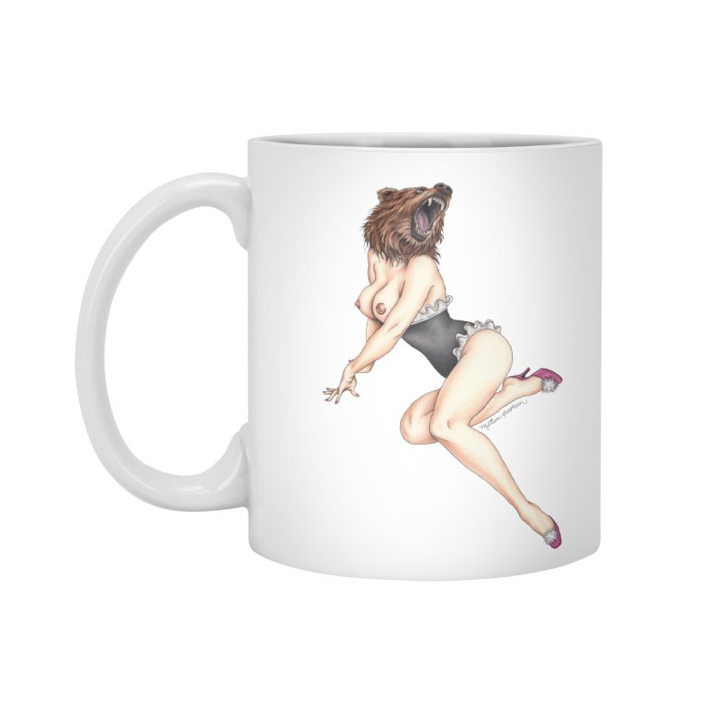 The Bear Naked Lady Accessories Standard Mug by MelJo JoJo's Artist Shop