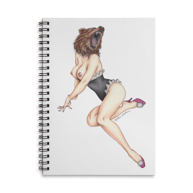 The Bear Naked Lady Accessories Notebook by MelJo JoJo's Artist Shop