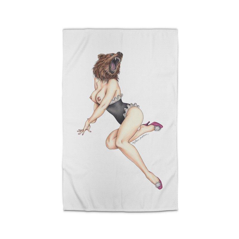 The Bear Naked Lady Home Rug by MelJo JoJo's Artist Shop