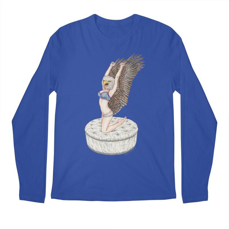 American Woman Men's Regular Longsleeve T-Shirt by MelJo JoJo's Artist Shop