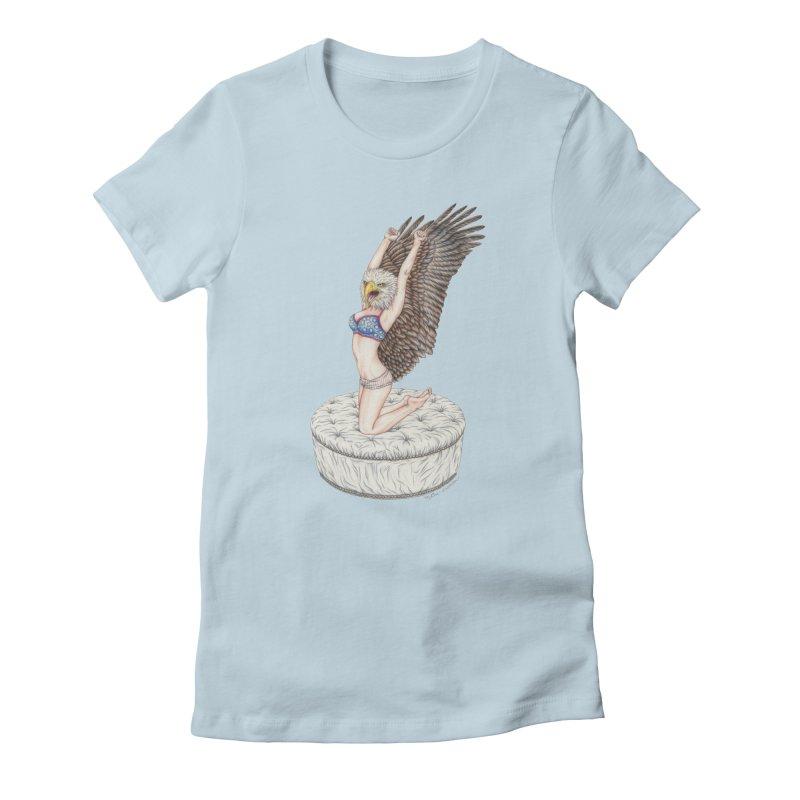 American Woman Women's T-Shirt by MelJo JoJo's Artist Shop