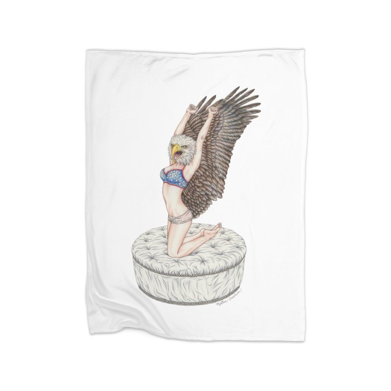American Woman Home Blanket by MelJo JoJo's Artist Shop