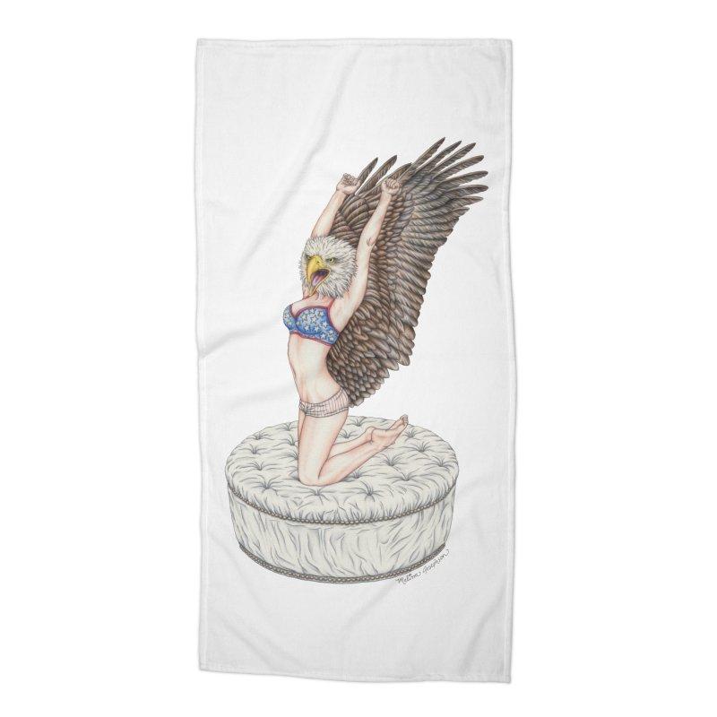 American Woman Accessories Beach Towel by MelJo JoJo's Artist Shop