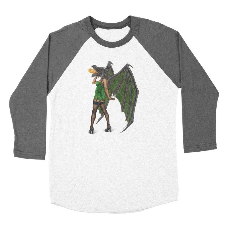 Draggin' Lady Men's Baseball Triblend Longsleeve T-Shirt by MelJo JoJo's Artist Shop