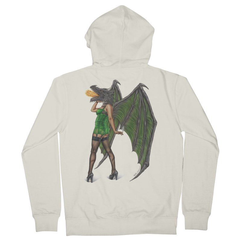 Draggin' Lady Men's French Terry Zip-Up Hoody by MelJo JoJo's Artist Shop