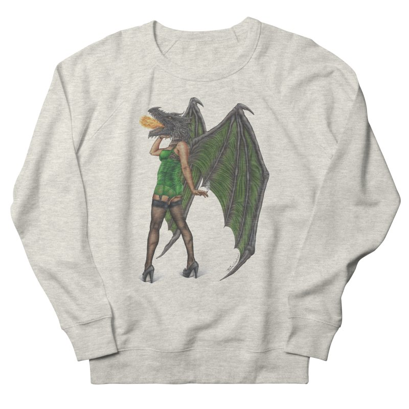 Draggin' Lady Men's French Terry Sweatshirt by MelJo JoJo's Artist Shop
