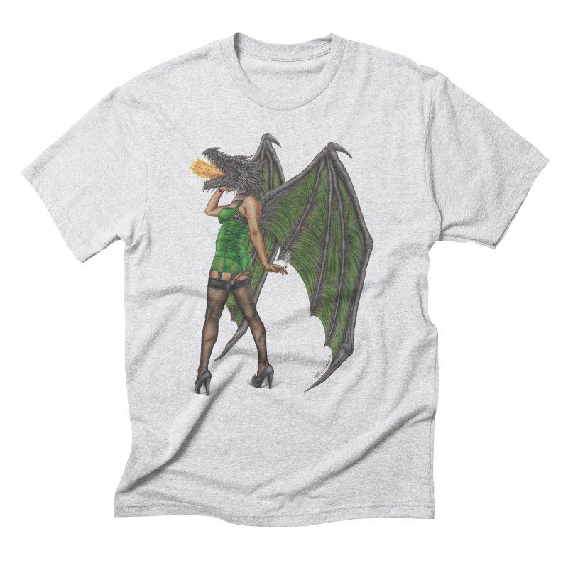 Draggin' Lady Men's Triblend T-Shirt by MelJo JoJo's Artist Shop