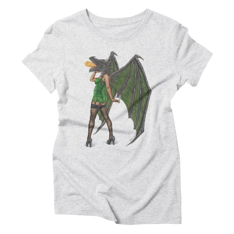 Draggin' Lady Women's Triblend T-Shirt by MelJo JoJo's Artist Shop