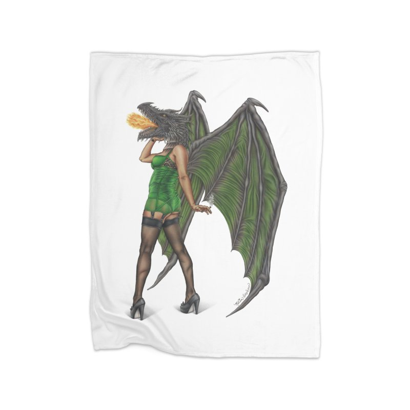 Draggin' Lady Home Fleece Blanket Blanket by MelJo JoJo's Artist Shop