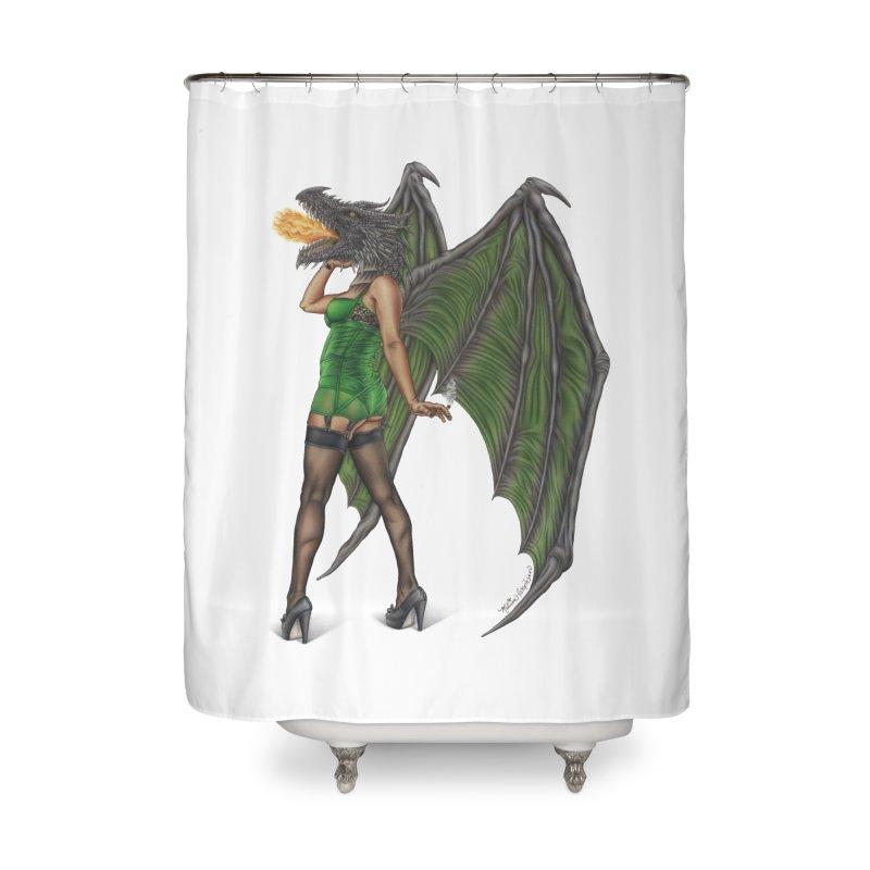 Draggin' Lady Home Shower Curtain by MelJo JoJo's Artist Shop