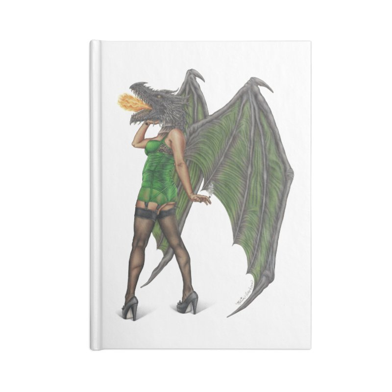 Draggin' Lady Accessories Lined Journal Notebook by MelJo JoJo's Artist Shop