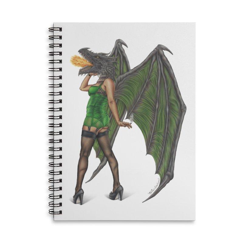 Draggin' Lady Accessories Lined Spiral Notebook by MelJo JoJo's Artist Shop