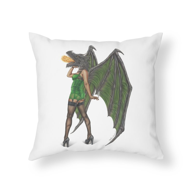 Draggin' Lady Home Throw Pillow by MelJo JoJo's Artist Shop