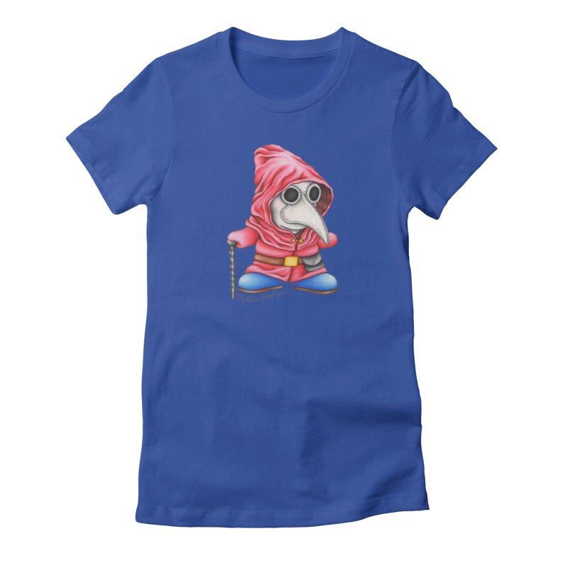 Shy Doctor Women's Fitted T-Shirt by MelJo JoJo's Artist Shop