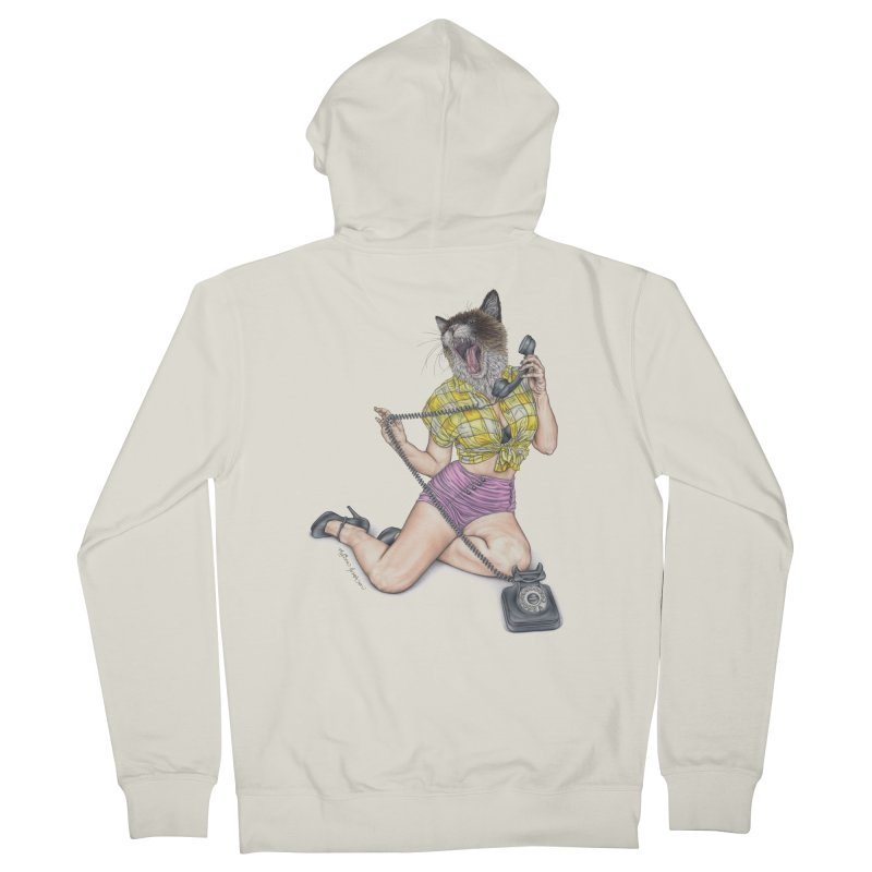 Chatty Catty Women's Zip-Up Hoody by MelJo JoJo's Artist Shop