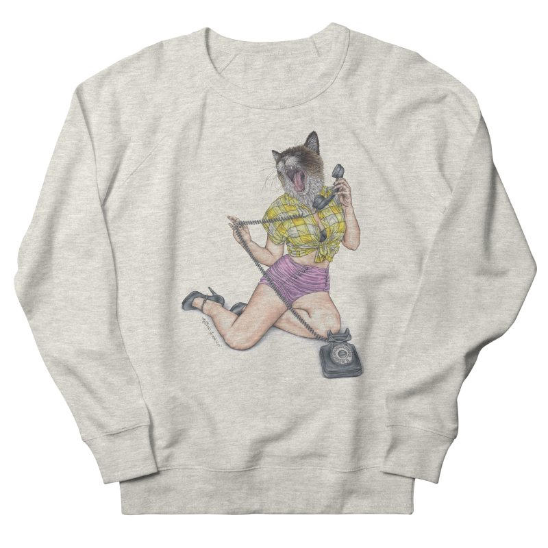 Chatty Catty Men's French Terry Sweatshirt by MelJo JoJo's Artist Shop
