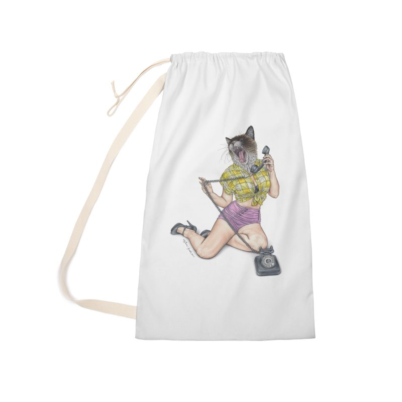Chatty Catty Accessories Laundry Bag Bag by MelJo JoJo's Artist Shop
