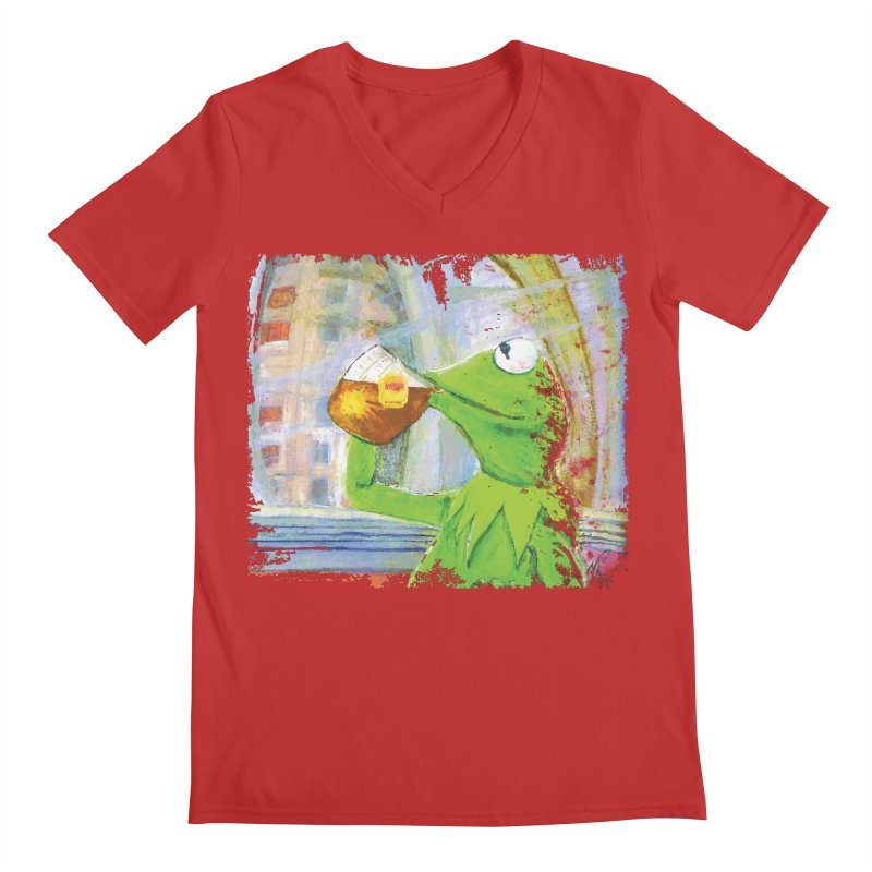 But That's None of My Business Men's V-Neck by mellypereda's Artist Shop
