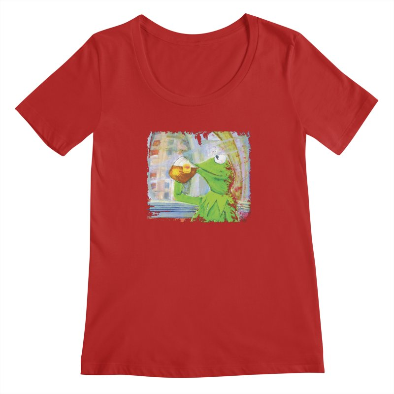 But That's None of My Business Women's Scoopneck by mellypereda's Artist Shop