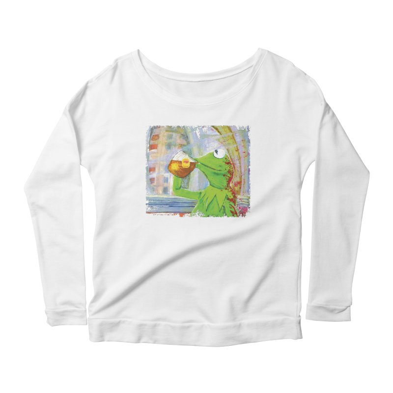 But That's None of My Business Women's Longsleeve Scoopneck  by mellypereda's Artist Shop