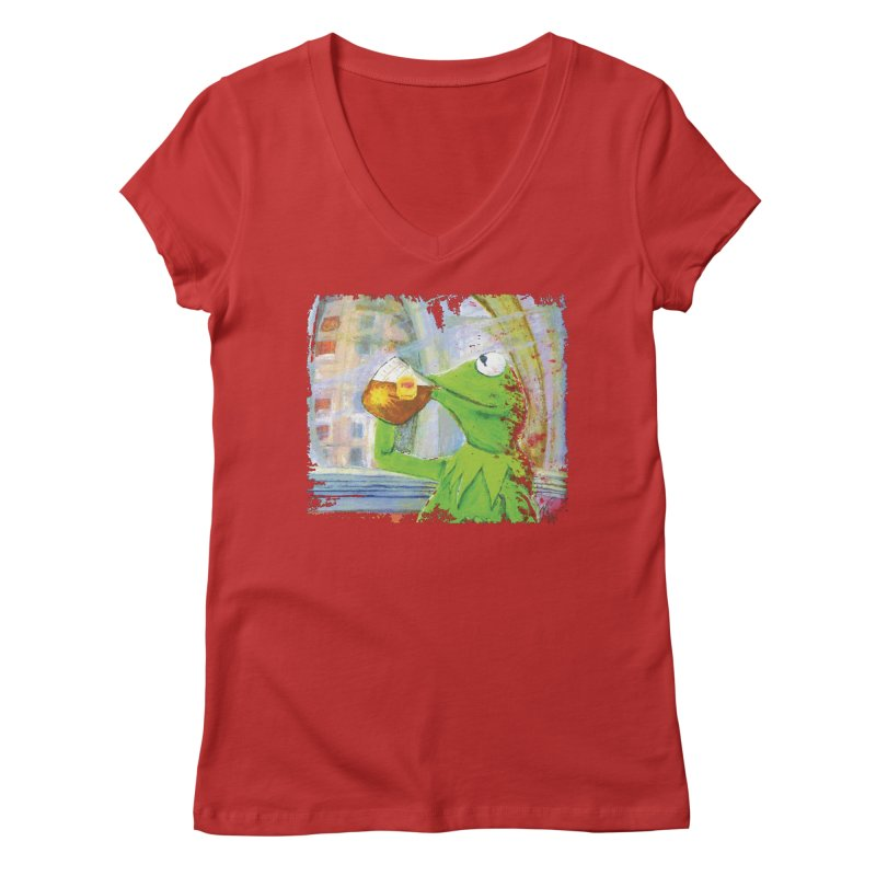 But That's None of My Business Women's Regular V-Neck by mellypereda's Artist Shop