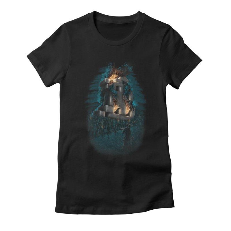 1978 Crash Site Women's Fitted T-Shirt by Threadless T-shirt Artist Shop - Melmike - Michael