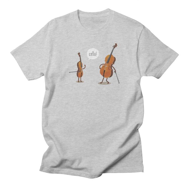 Cello! Men's Regular T-Shirt by Threadless T-shirt Artist Shop - Melmike - Michael