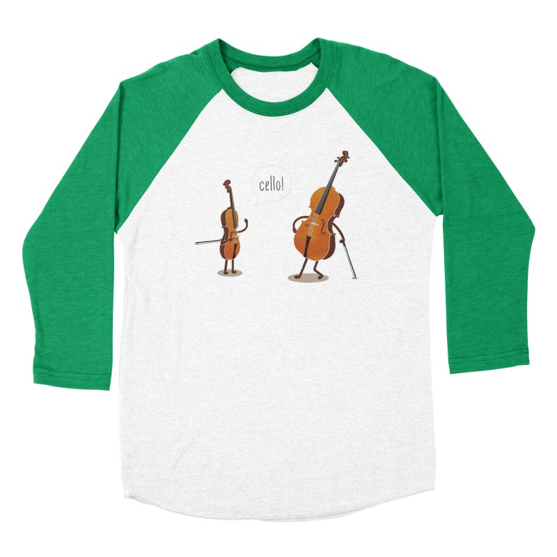Cello! Men's Baseball Triblend T-Shirt by Threadless T-shirt Artist Shop - Melmike - Michael